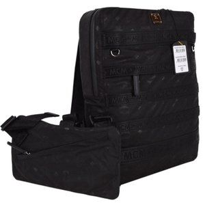 MCM Visetos Resnick Triple Pouch Backpack Bag